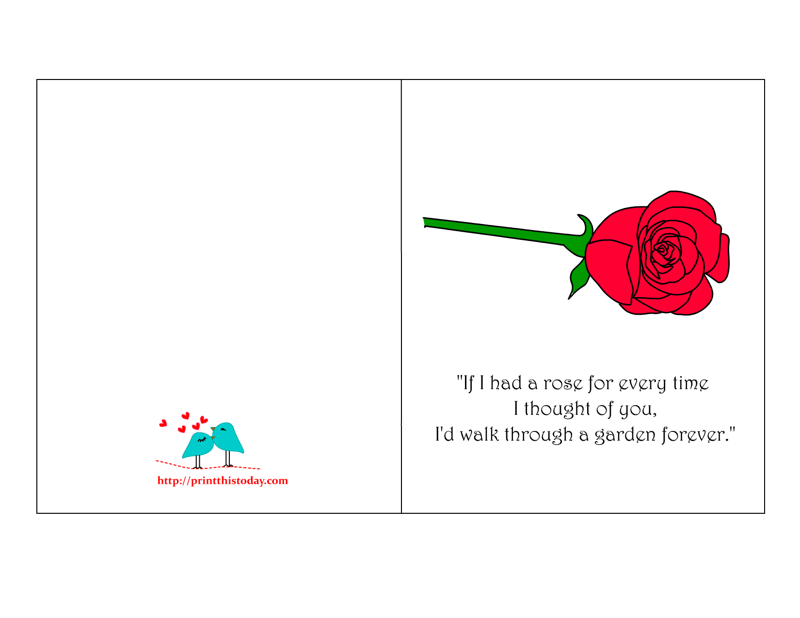 Romantic Card for Valentine s day
