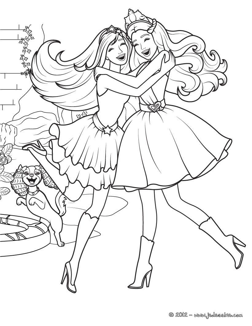 Coloriages La Princesse Et La Popstar à Imprimer Frhellokidscom