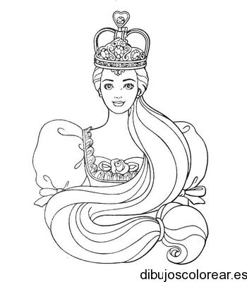 Dibujo De Una Princesa Y Su Corona