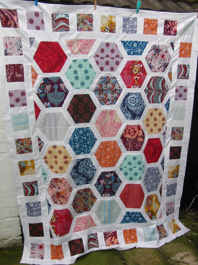 Hexagon Crush Quilt Top