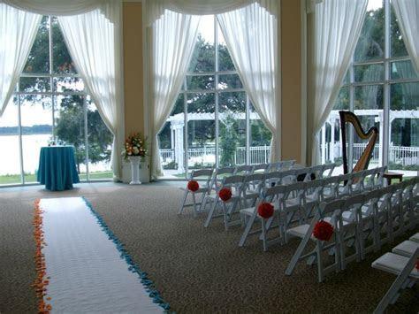 Wedding ceremony set up in the beautiful Rotunda room at