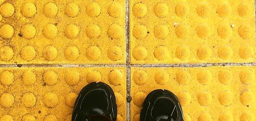 yellow blind path