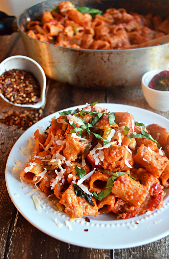 image one pot spicy chicken riggies recipe