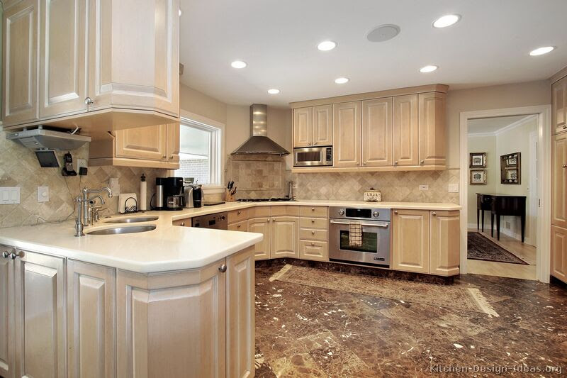 Pictures of Kitchens - Traditional - Whitewashed Cabinets (Kitchen #5)