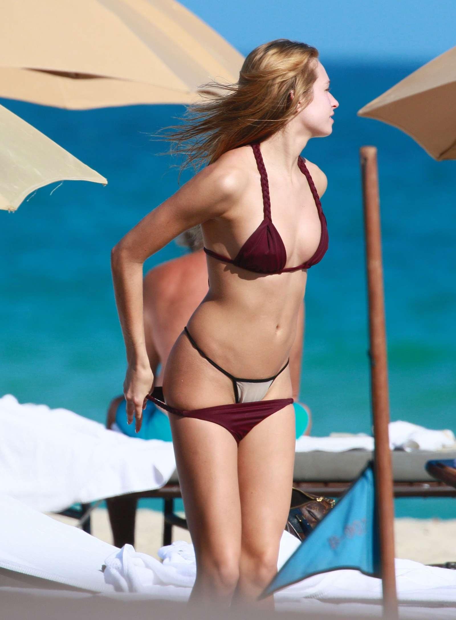 Ashlen Alexandra in Bikini at the beach in Miami