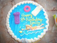 Pool Cakes on Pinterest