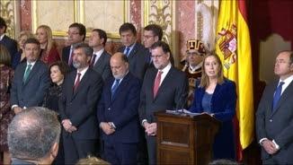 Mariano Rajoy i Ana Pastor, en l'acte institucional de celebració del Dia de la Constitució