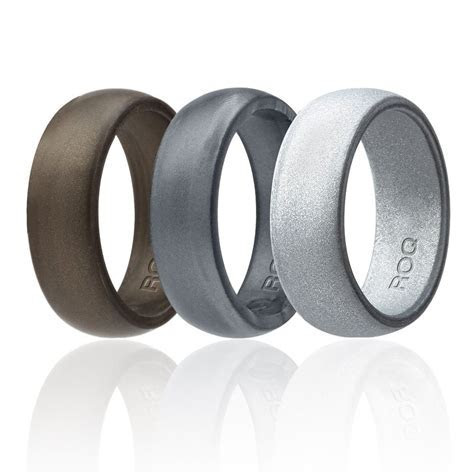 Metalic Silicone Wedding Ring Sets for Men`s