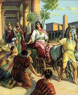 English: Joseph made ruler in Egypt