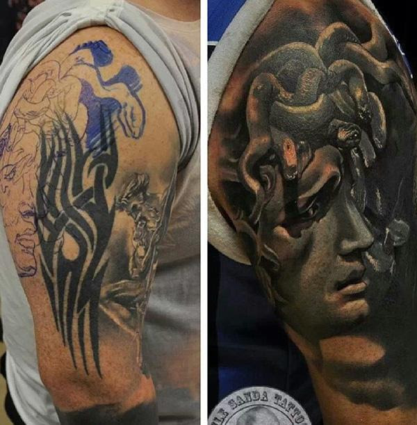 55 Incredible Cover Up Tattoos Before And After Art And Design