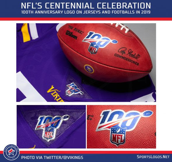 First Look at NFL 100 Jersey Patch and Football  Chris Creamers SportsLogos.Net News and Blog