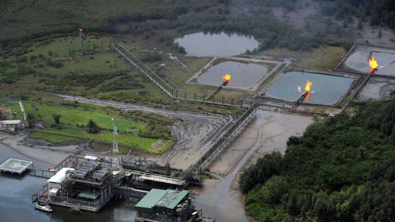 An oil field in the Niger Delta