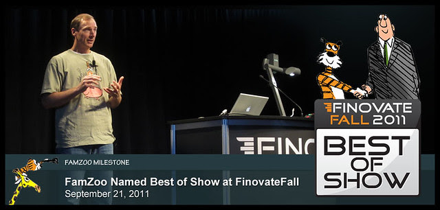 September 21, 2011: FamZoo Named Best of Show at FinovateFall