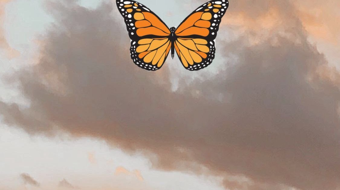 Teenage Vsco Teenage Aesthetic Blue Butterfly Wallpaper ...