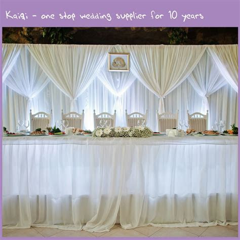 White Cheap Wedding Voile Backdrop Draping Fabric   Kaiqi