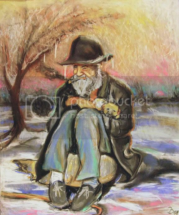 Resultado de imagen para hombre muy viejo pintura