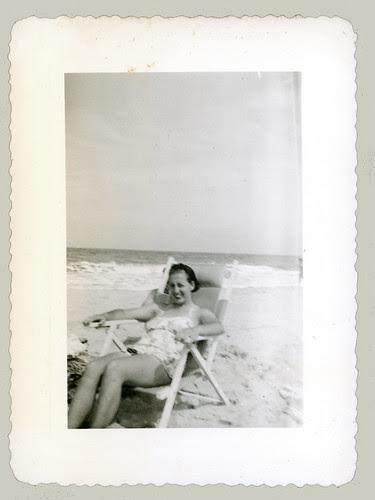 Lady in a beach chair