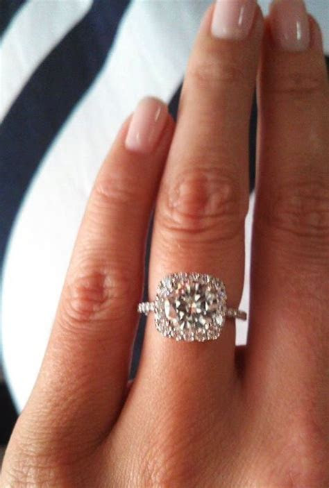 French Set Halo Diamond Band Engagement Ring   in 14kt