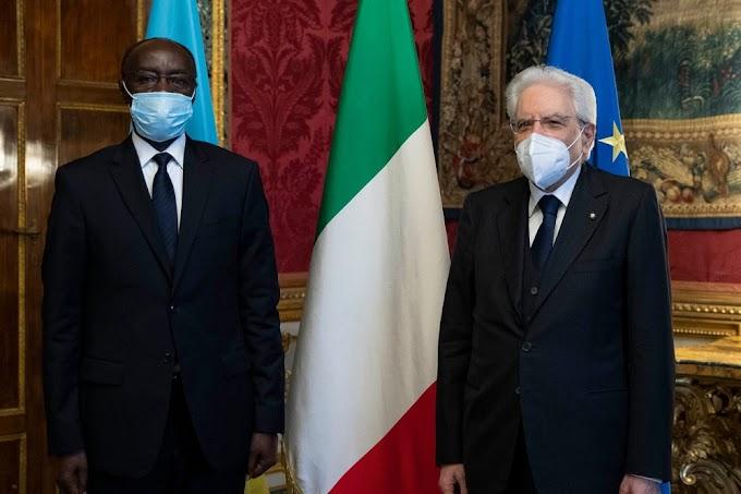 Amb. Ngarambe yashyikirije Perezida Mattarella impapuro zimwerera guhagararira u Rwanda mu Butaliyani -