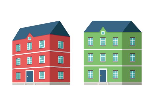 欧州の住宅っぽいイラスト2 街建物系イラスト専門サイトtown Illust