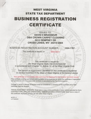 Crown Carpet Cleaning - Licenes & Certificate of Liability ...