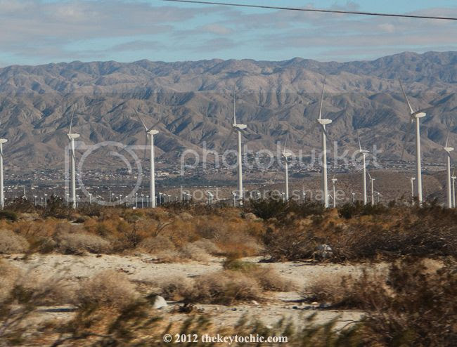 Palm Springs windmills, California desert