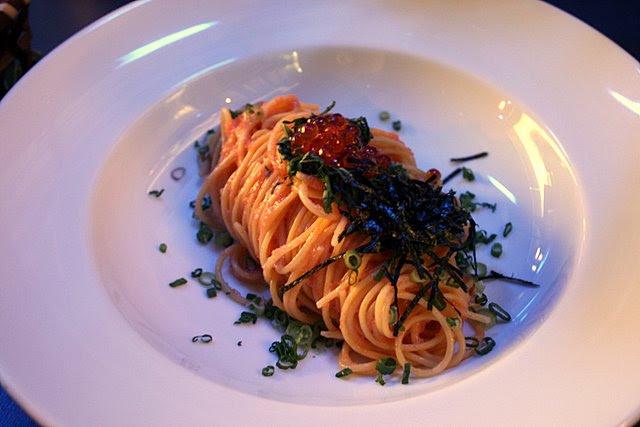 Mentaiko Spaghetti with Salmon Roe