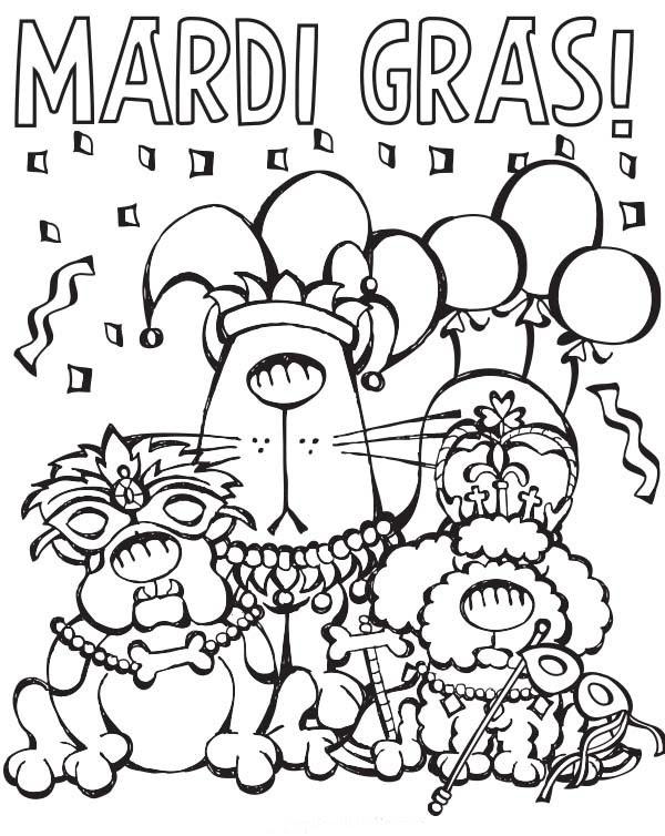 Coloriage Mardi Gras à Imprimer