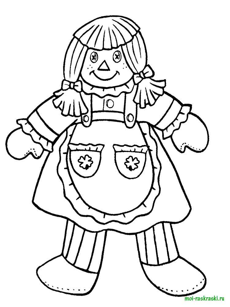 doll coloring pages 5