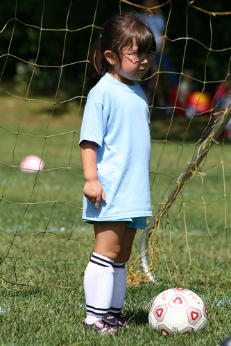 Getting ready for a goal kick