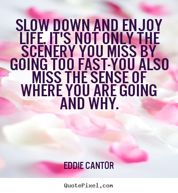 Life Quotes Slow Down And Enjoy Life Its Not Only The Scenery