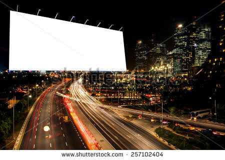 stock-photo-blank-billboard-at-night-time-for-advertisement-street ...