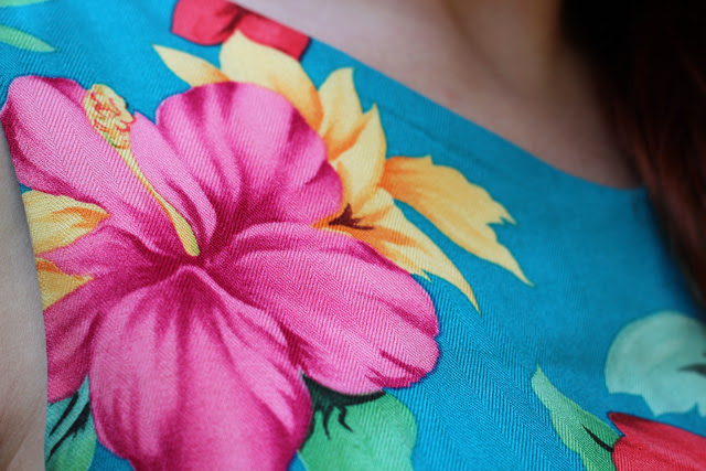 Pink, Red, Yellow, & Blue Hibiscus Print