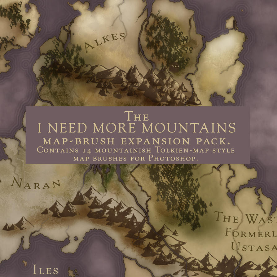 I Want More Mountains Brushes By Calthyechild On Deviantart