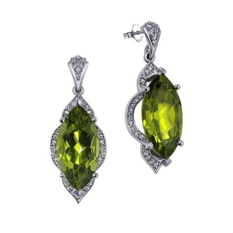 Marquise Peridot Earrings   Jewelry Designs