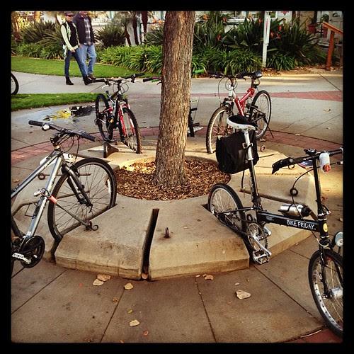 """20"""" wheels work great on old school bike racks"""