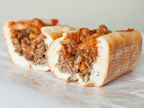 General Tso's chicken cheesesteak