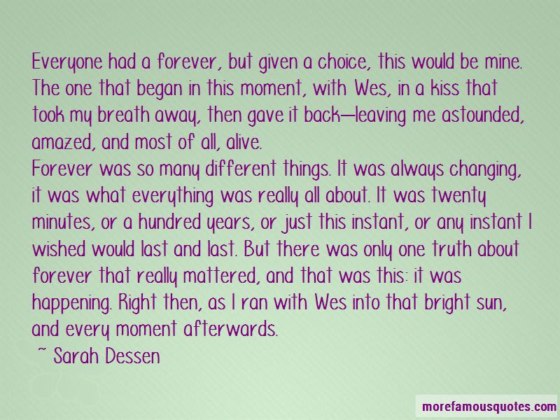 The Truth About Forever Wes Quotes Top 2 Quotes About The Truth