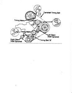 Belt timing diagram for mitsubishi pajero 4D56 - Fixya