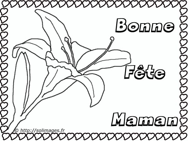 Carte Coloriage Bonne Fête Mamie