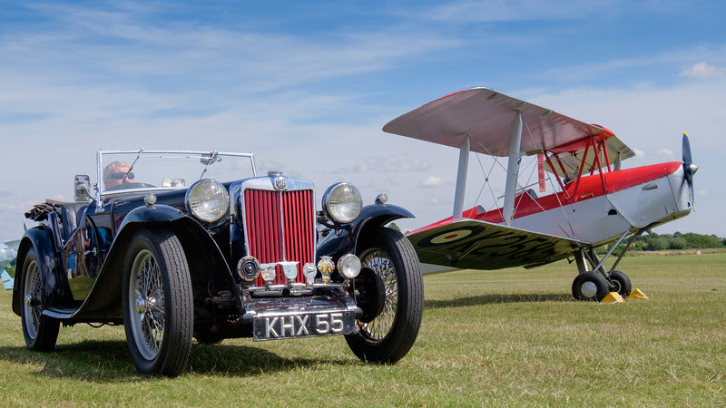 MG TA - KHX 55 and Tiger Moth