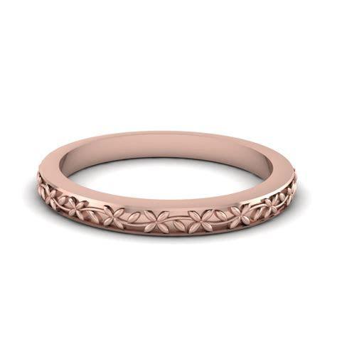 Womens Vintage Wedding Ring In 14K Rose Gold   Fascinating