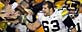 Iowa offensive lineman Julian Vandervelde celebrates with fans after winning 21-10 against Penn State Saturday, Sept. 26, 2009, in State College, Pa. (AP Photo/Carolyn Kaster)