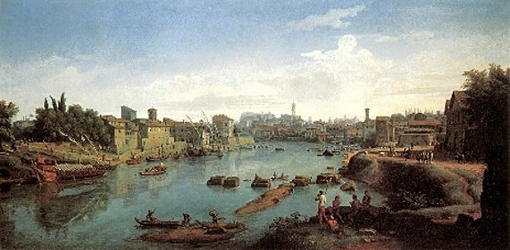 van Wittel, Der Tiber bei Porto di Ripa