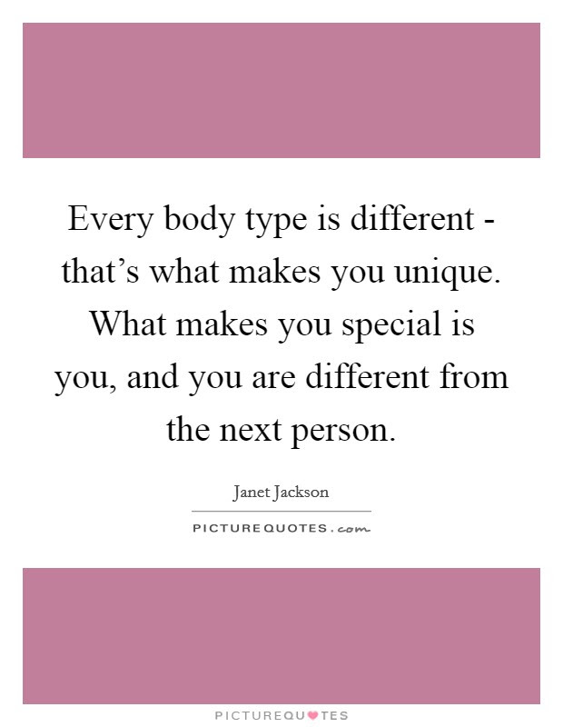 Every Body Type Is Different Thats What Makes You Unique