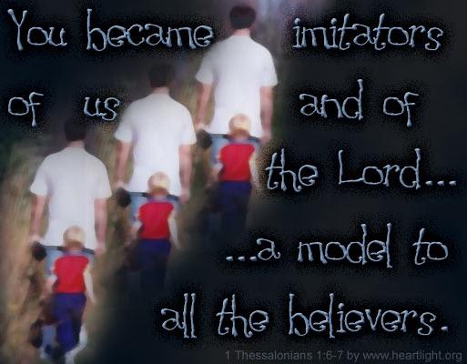 Inspirational illustration of 1 Thessalonians 1:6-7