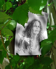 Self Portrait #6 - Lady Of Vines, Of The Forest, Or Fence Sitter