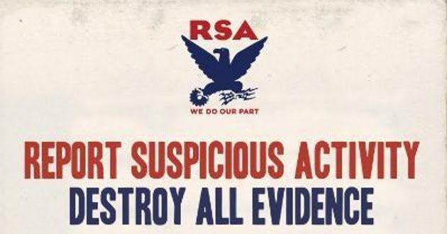 Report Suspicious Actity -- Destroy All Evidence