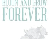 Edelweiss Bloom and Grow Forever Print - OrganicBird