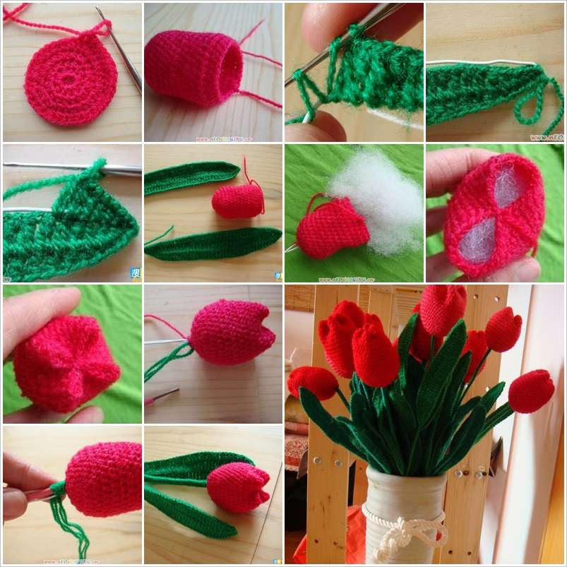 These Crochet Tulips Will Make A Perfect Home Decor